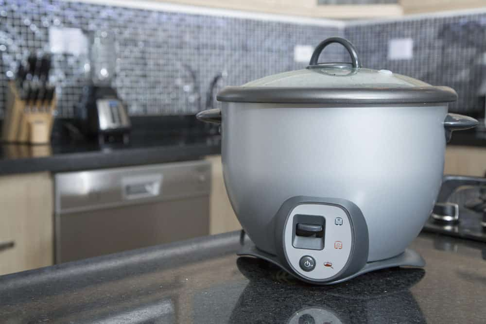 Photo of rice cooker in residential kitchen