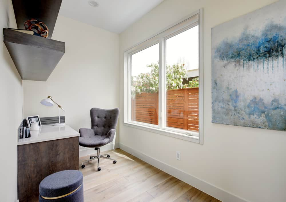 Here's a bonus room space that's converted into a small home office. It's pretty minimalist, but does the job.