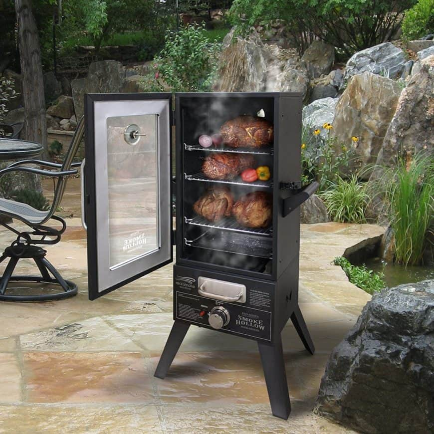 Smoker cooker appliance on the patio