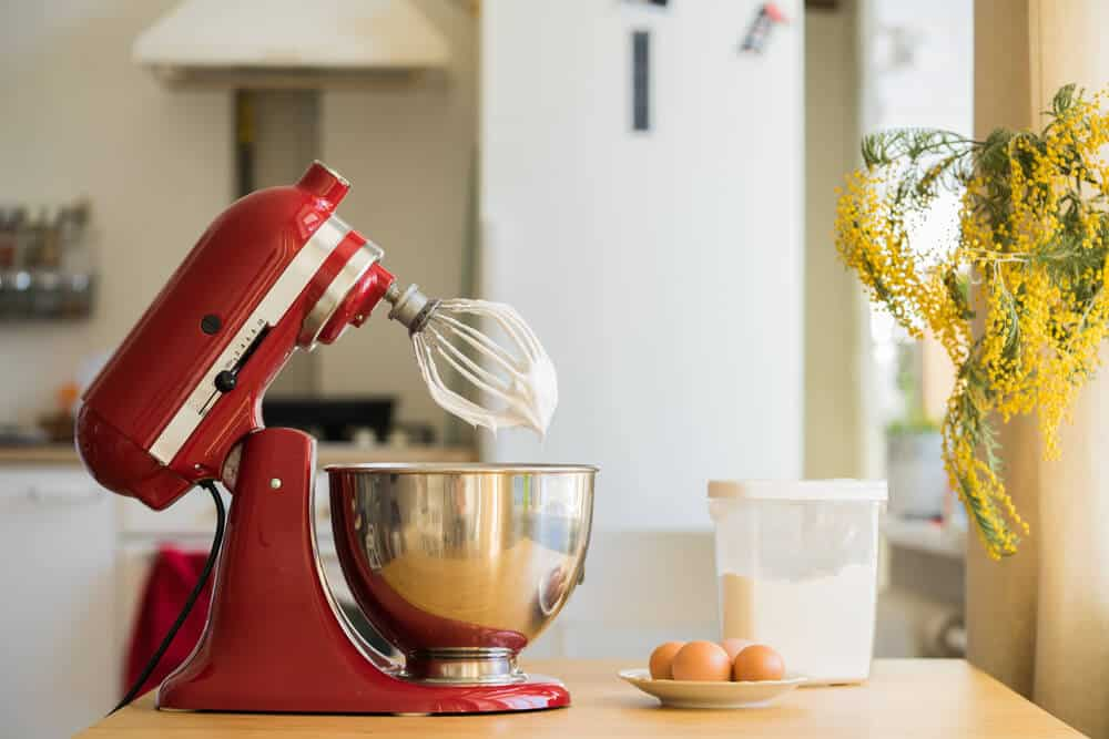 Photo of a stand style baking mixer