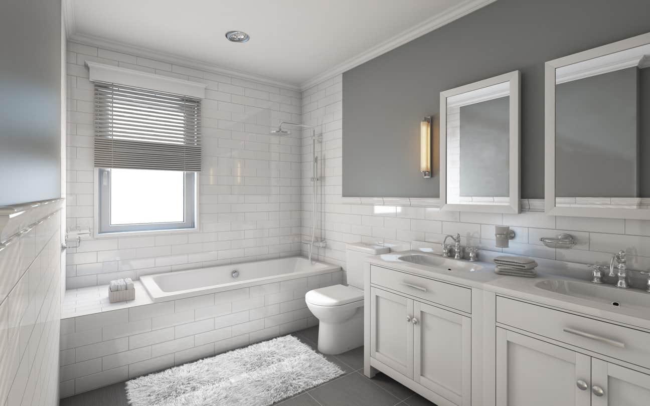 33 Elegant White Master Bathroom Ideas (2019 Photos)