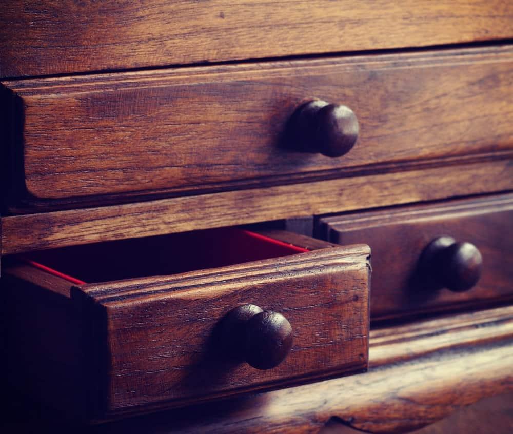 Vintage wooden drawers