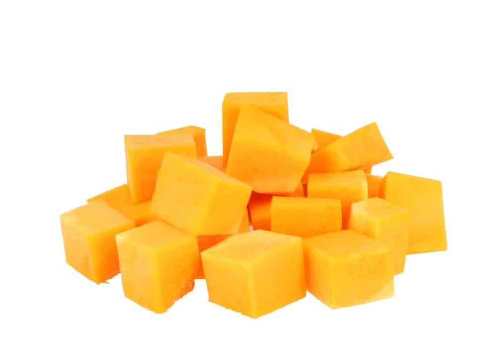 Frozen Squash Cubes