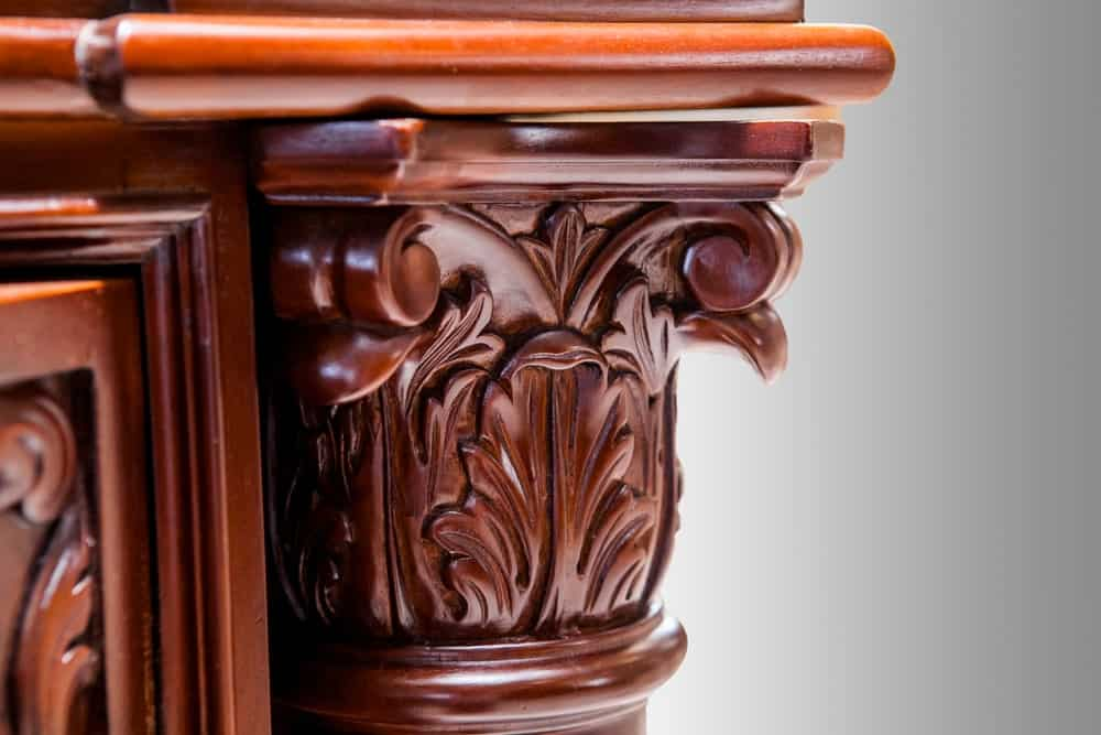 Carved walnut wood