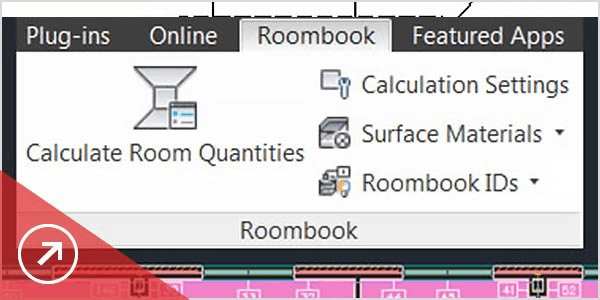 Dropdown menu for Roombook settings