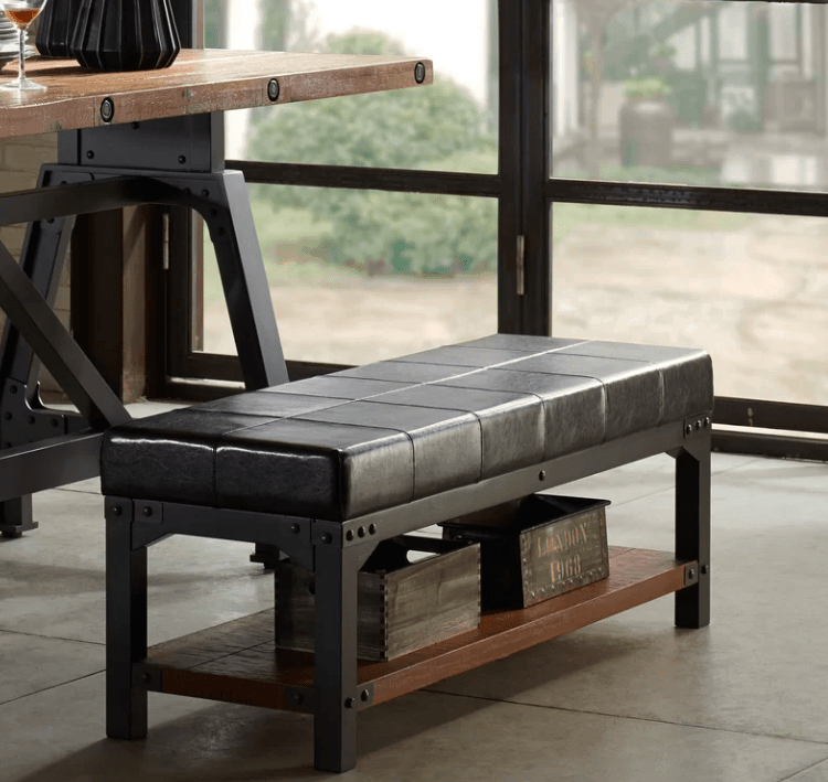 Dining table bench seating with storage