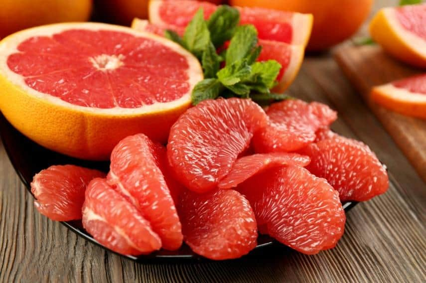 Juicy Sliced Grapefruits