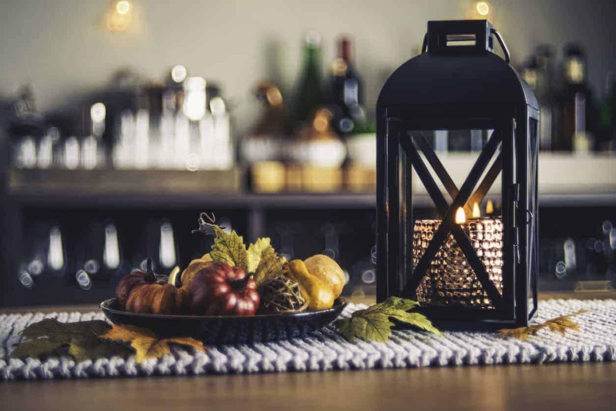 Home décor example for the table for Autumn season