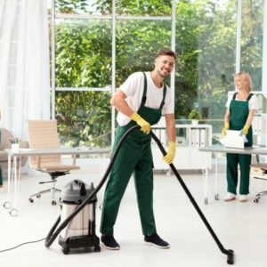 House cleaners on the job