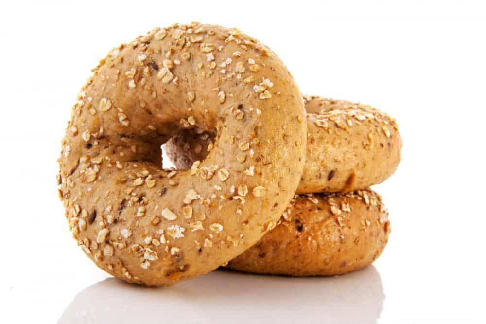 Multigrain bagels ready to be stored