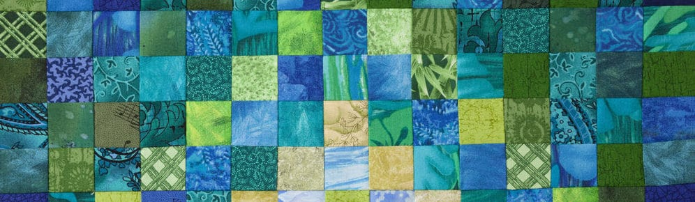 Photo of green and blue quilt