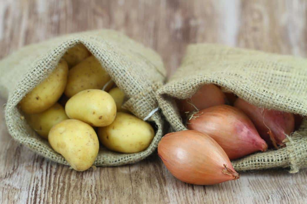 Brown, jute bag for Onions