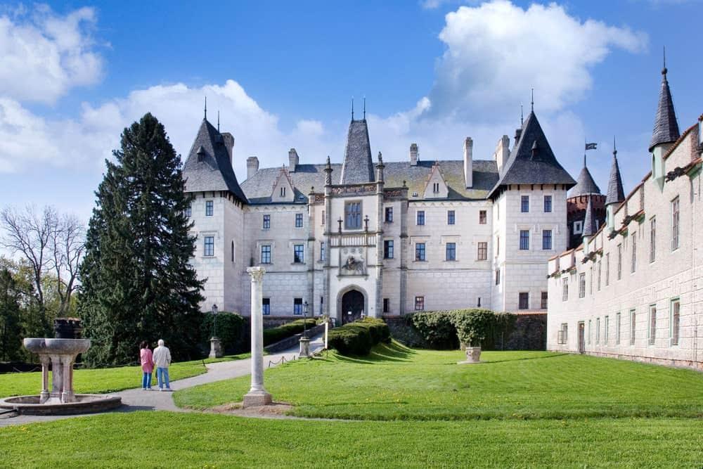 Zleby Castle in Czech Republic.