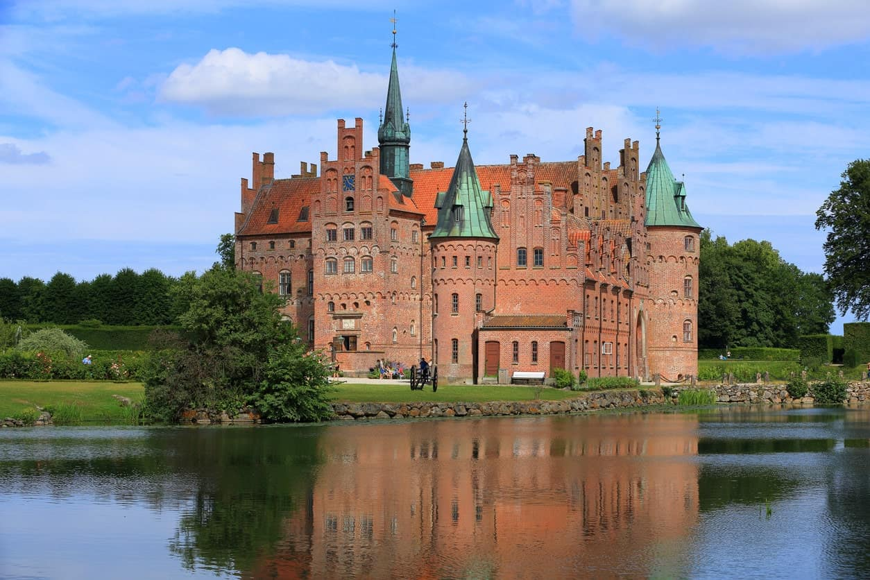 Egeskov Slot castle in Denmark.
