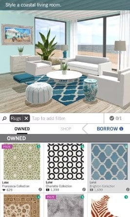 Screenshot of the Design Home app.