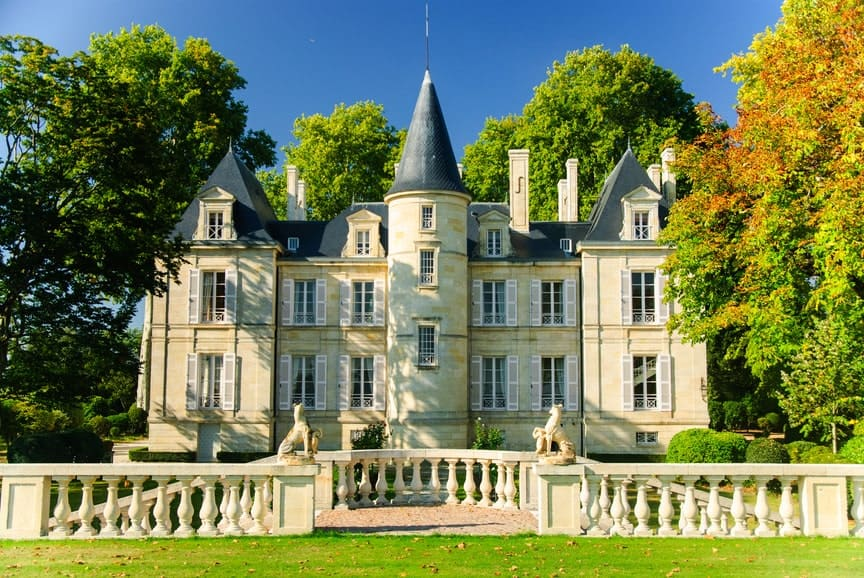 Chateau Pichon Lalande in France.