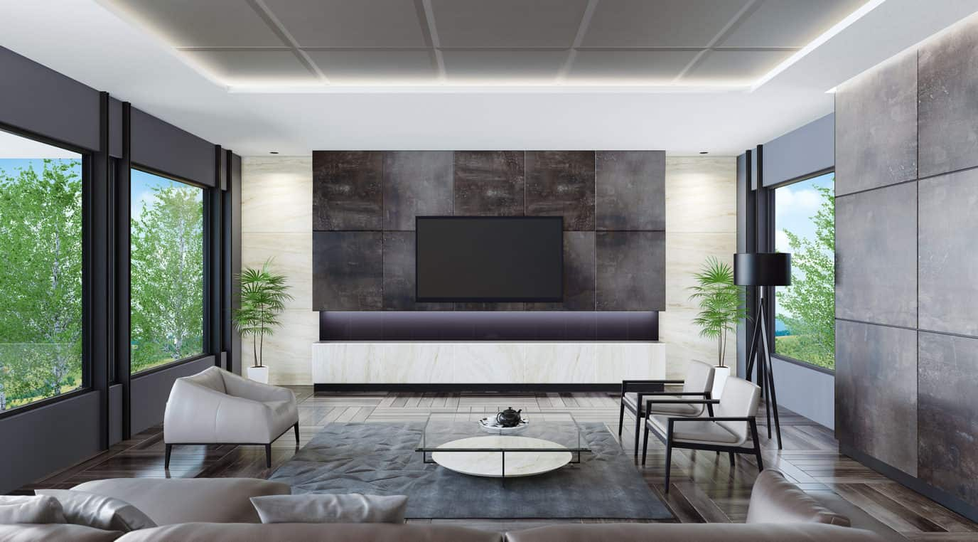 cool gray living room design | 47 Cool Gray Living Room Ideas (Photos)