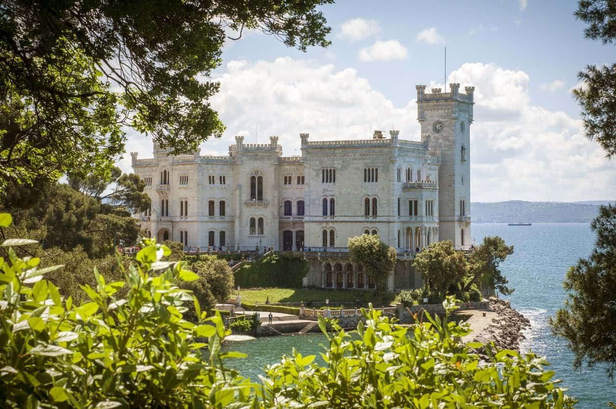 Miramare Castle in Italy.