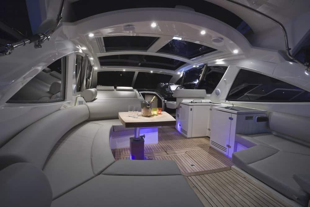 Interior of a luxury yacht.