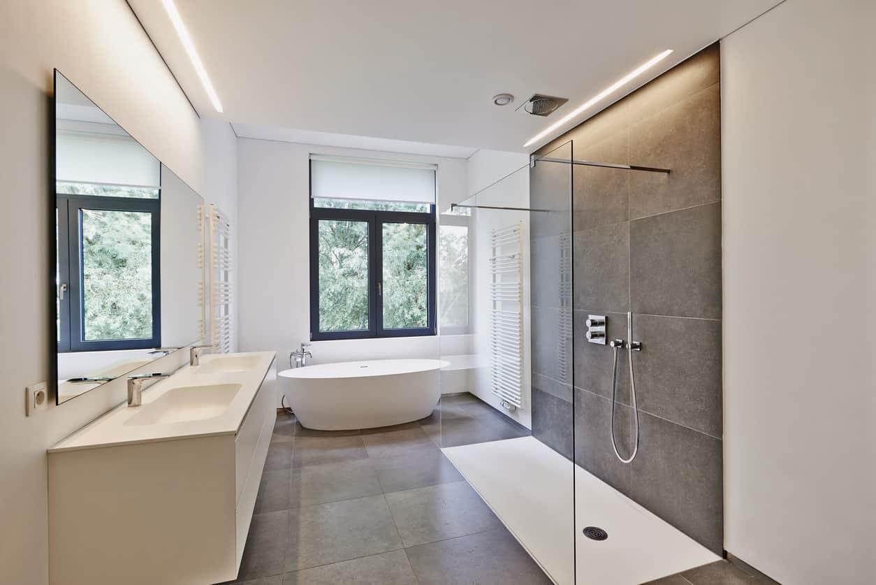 51 Sleek Modern Master Bathroom Ideas Photos - Modern-master-bathroom