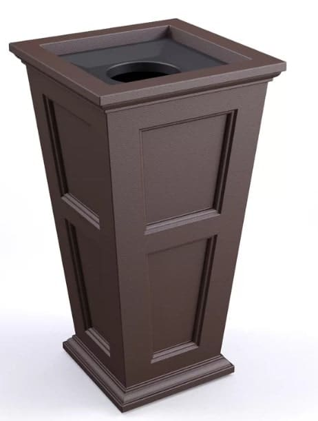 Outdoor Open-Top Trash Can