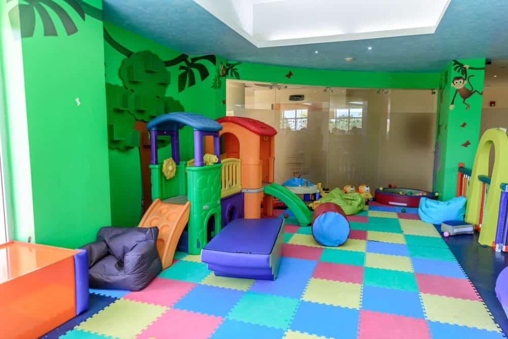 Indoor playroom for kids.