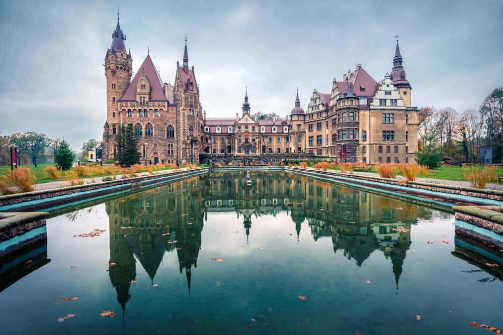 Moszna Castle in Poland.