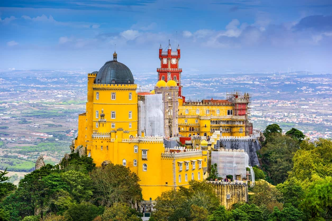 Pena Palace in Portugal.