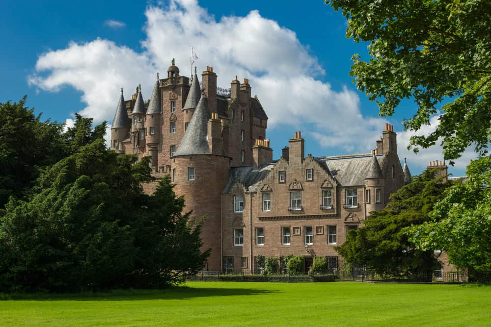 Glamis Castle in Scotland.