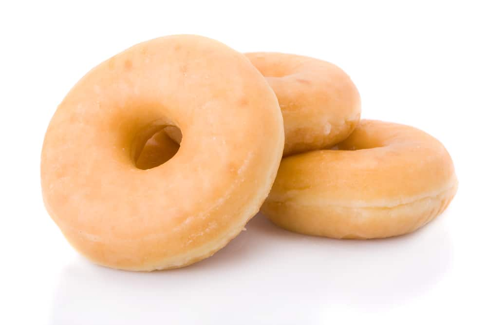 Three glazed donuts