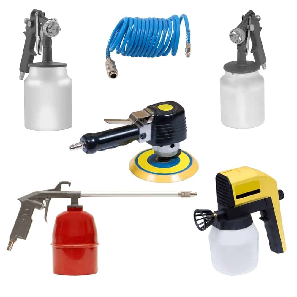 Different types of air tools.