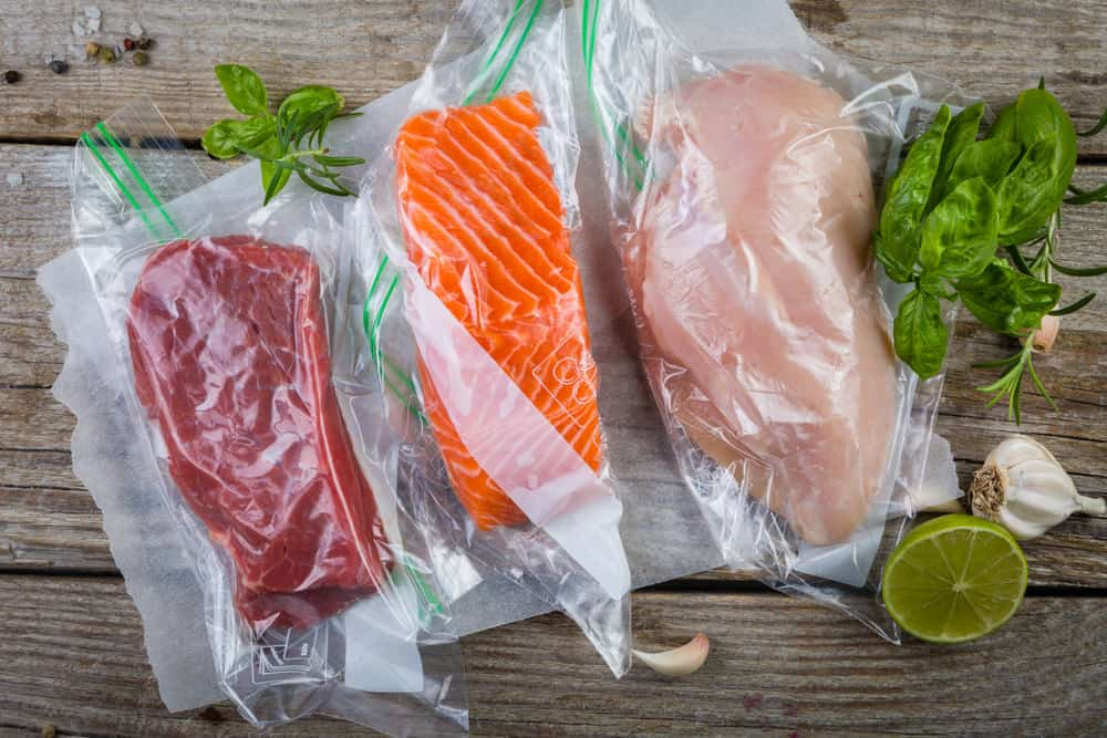 vacuum sealed food for long term storing