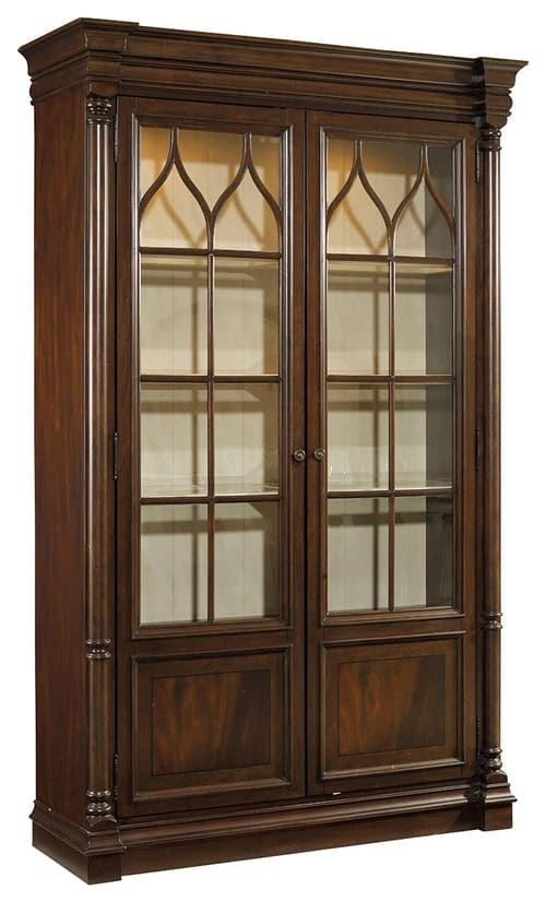 China cabinet with adjustable shelving.