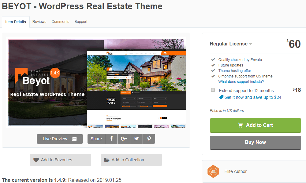 Beyot Real Estate Website Theme