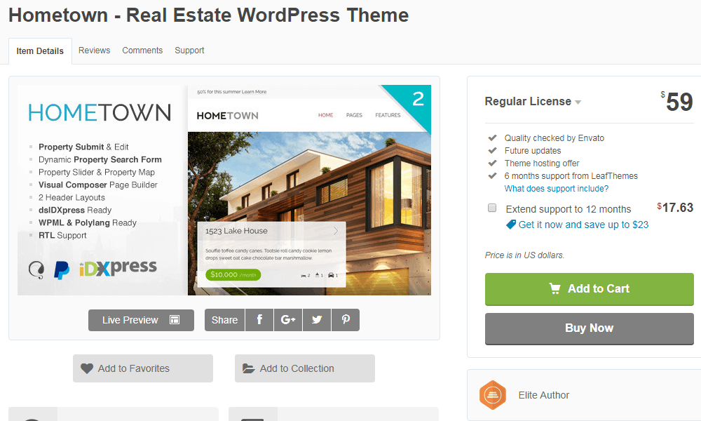 Hometown WordPress Real Estate Theme