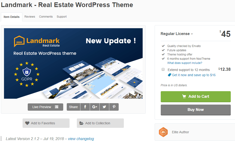 Landmark WordPress Website Theme