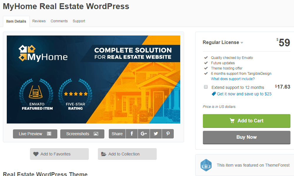 MyHome WordPress Theme