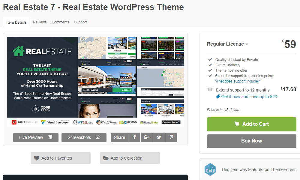 Real Estate 7 Theme for Websites