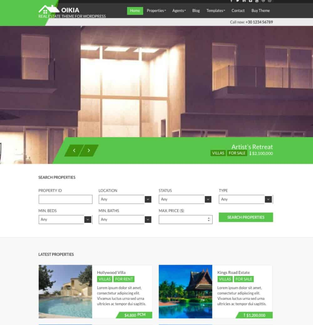 CSSIgniter Real estate wp theme