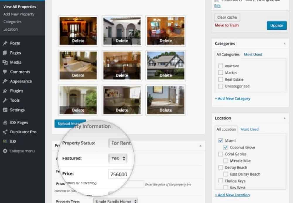 Gorilla Theme property listing info