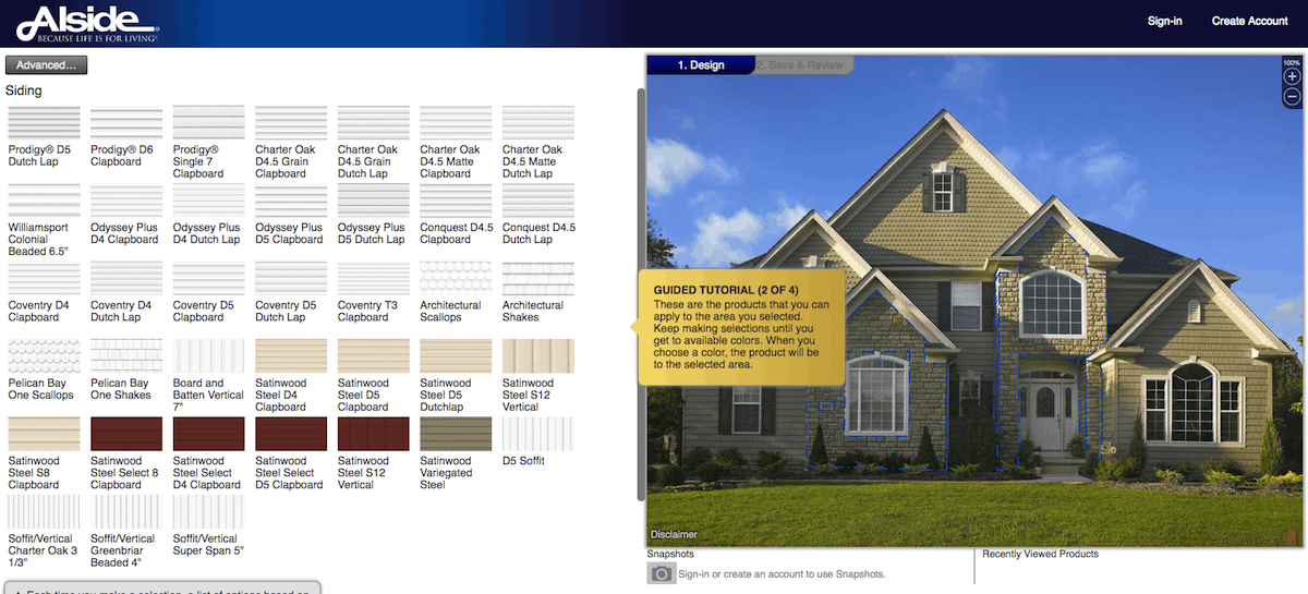 Alside home exterior visualizer software