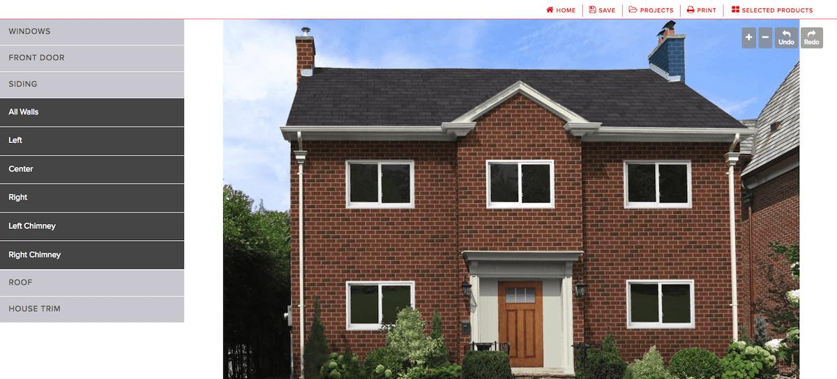 Champion Windows Home facade software designer