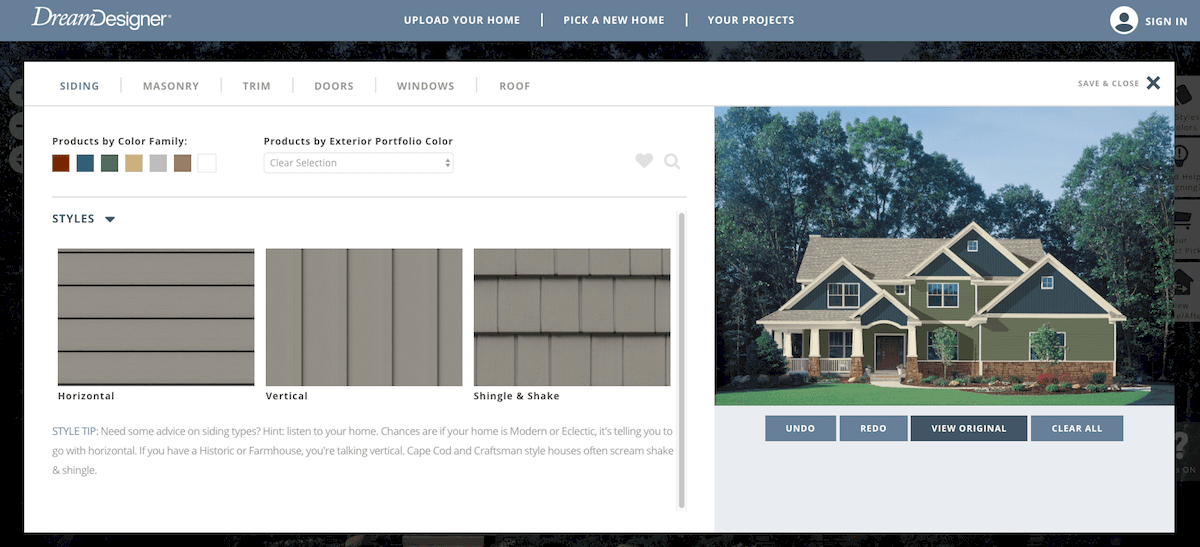 DreamDesigner home exterior customizing software