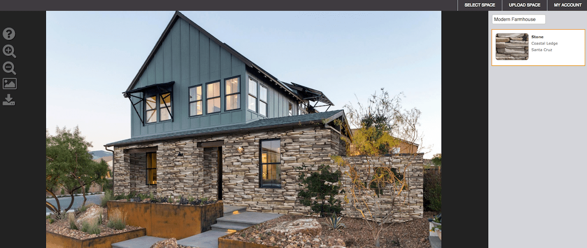 Eldorado Stone home exterior software for stone exteriors