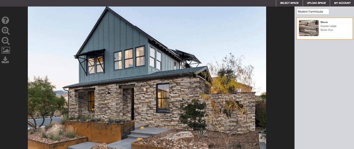 Eldorado Stone home exterior software for stone exteriors