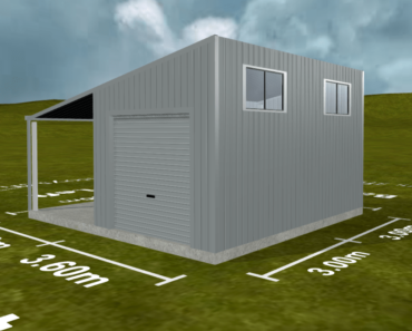 Example of shed designed with software - rendering