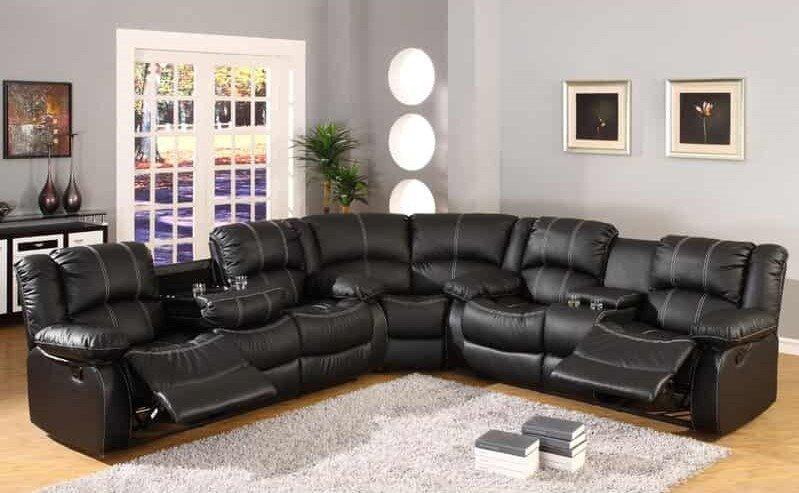 Hattie Wide Faux Leather Sectional