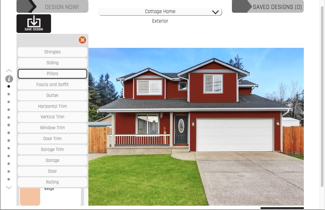 Hoffman Weber house exterior design visualizer