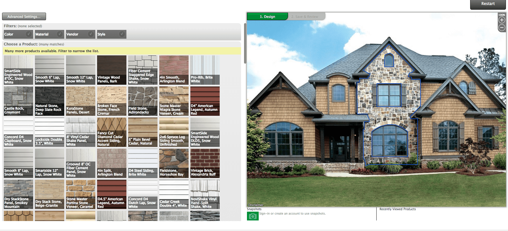 Menards design-it-center home exterior software