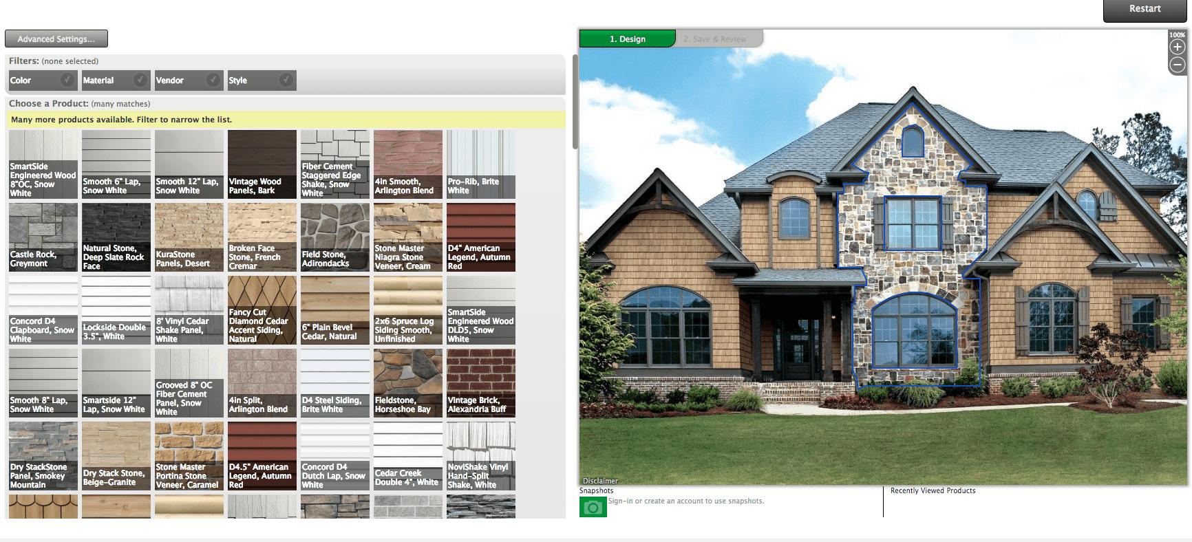 Menards design-it-center home exterior software